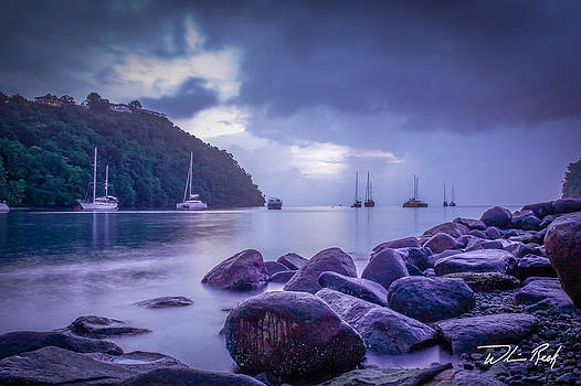 William Reek - Stormy Marigot Sunset
