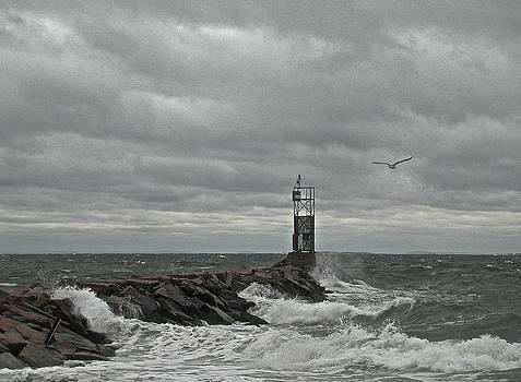 Stormy Montauk by Alan Thal