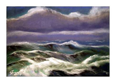 Stormy sea by Fritz Engelhardt