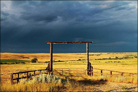 Stormy Skies by Big Horn  Photography
