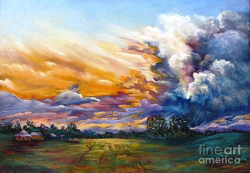 Stormy Sunset by Marieve Ortiz