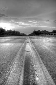 Stormy Yellow Lines II by David Paul Murray