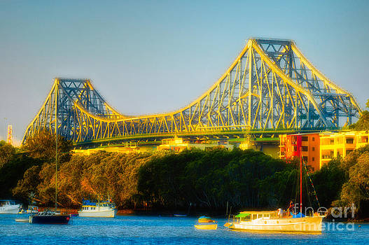 David Hill - Story Bridge and the Brisbane River - Brisbane - Queensland - Australia