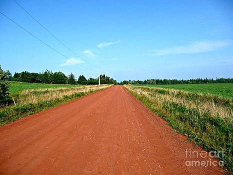 Straight Red Dirt Road by Rachel Gagne