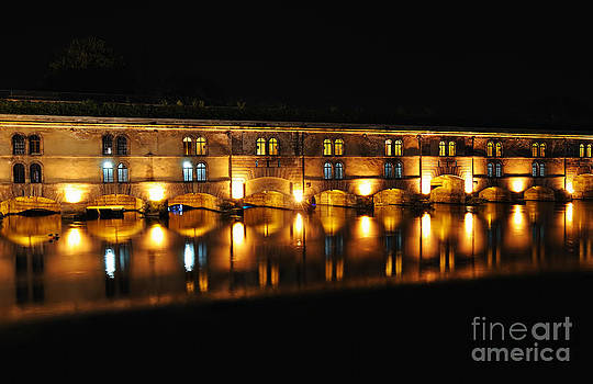 Strasbourg Vauban Dam at night by Skyfish Images