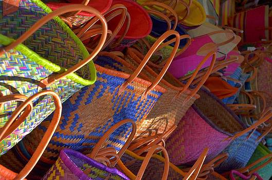 Straw bags colors by Dany Lison