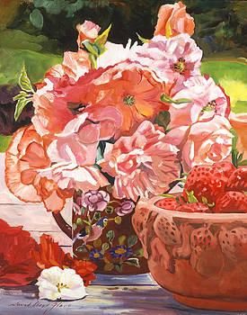 David Lloyd Glover - STRAWBERRIES AND FLOWERS