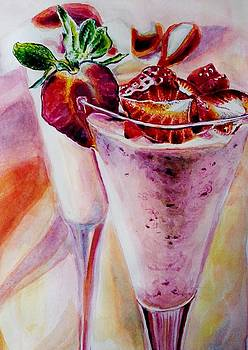 Strawberries and Icecream by Manju Chaudhuri