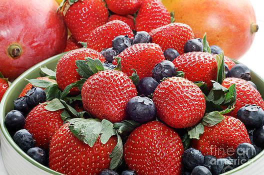 Andee Design - Strawberries Blueberries Mangoes - Fruit - Heart Health
