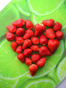 Strawberries Heart by Riad Belhimer