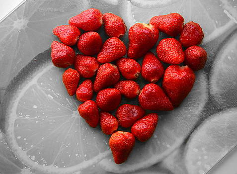 Strawberries Heart2 by Riad Belhimer