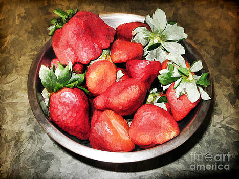 Strawberries in light by Anne Ferguson