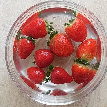 #strawberries by Zarah Delrosario