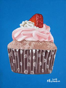 Strawberry Cupcake by Kayleigh Semeniuk