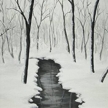Stream in a Snowy Wood by Anna Bronwyn Foley