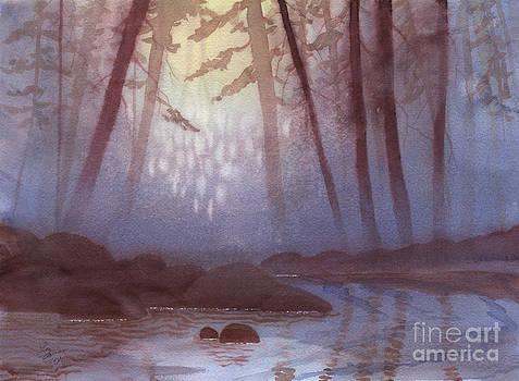 Stream in Mist by Lynn Quinn