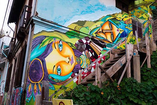 Street Art Valparaiso by Pedro Nunez