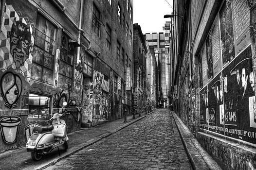Street Artwork Black and White by Shane Dickeson