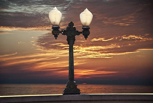 Larry Butterworth - STREET LIGHT WITH CALIFORNIA SUNSET
