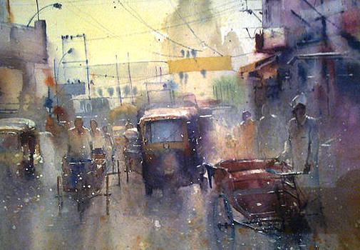 Street by Mohan Watercolours