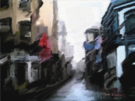 Street scene by Gilberto De Martino