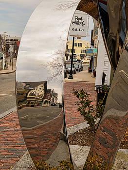 Street Scene in Rockport by Nancy De Flon