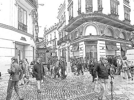 Heiko Koehrer-Wagner - Street Scene in Seville