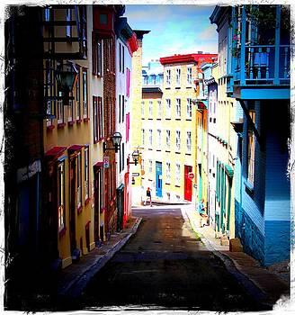 Laura Carter - Street Scene Old Quebec City Fine Art Photograph Print