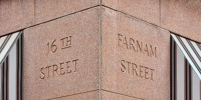 Nikolyn McDonald - Street Sign - 16th and Farnam - Omaha