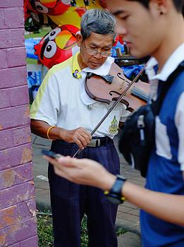 Street Violinist by August Timmermans