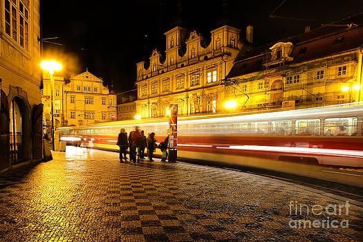 Colin Cuthbert - Streetcar in Prague at Night