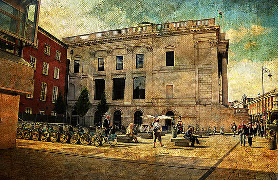 Jenny Rainbow - Streets of Dublin. Dame Street. Painting Collection