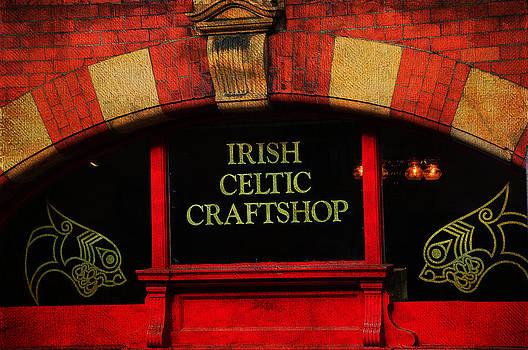 Jenny Rainbow - Streets of Dublin. Irish Celtic Craftshop. Painting Collection