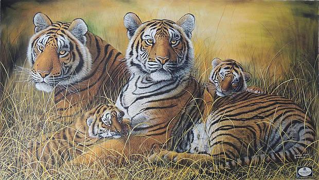Strength and Innocence by Hukam Chand Wildlife artist