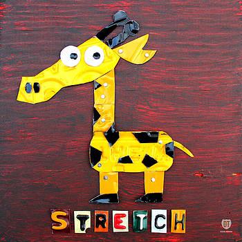 Design Turnpike - Stretch the Giraffe License Plate Art