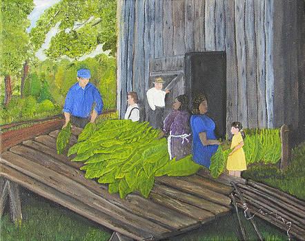 Stringing Tobacco by Linda Clark