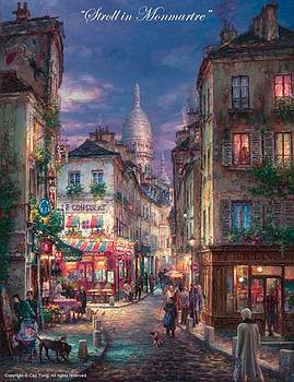 Stroll Montmartre by Cao Yong