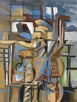 Studio with Cello by Clyde Semler