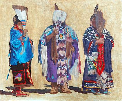Study for The Three Sentinels by Christine Lytwynczuk