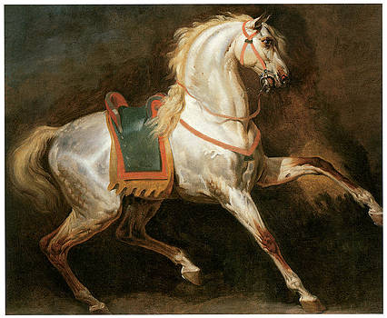 Emile-Jean-Horace Vernet - Study of a Horse