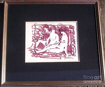 Study of Three Nudes in Brown by Andre Gisson