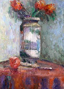 Study- Vase -Rose by Benjamin Johnson