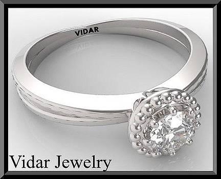 Stunning Round Diamond 14k White Gold Engagement Ring  by Roi Avidar