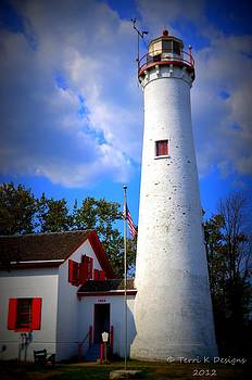 Sturgeon Point Lighthouse Michigan by Terri K Designs