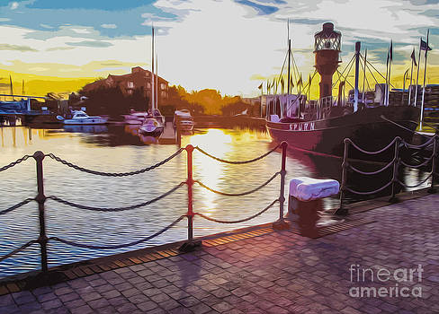 Algirdas Lukas - Stylised Sunset of Hull City