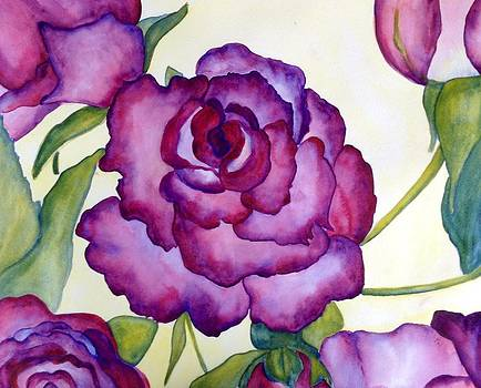 Succulent Roses by Sheba Goldstein