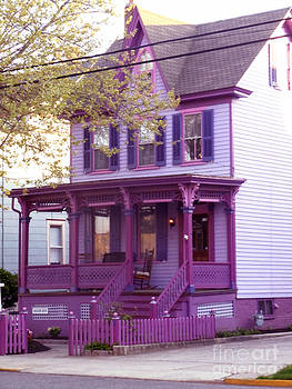 Sugar Plum Purple Victorian home by Kristie Hubler