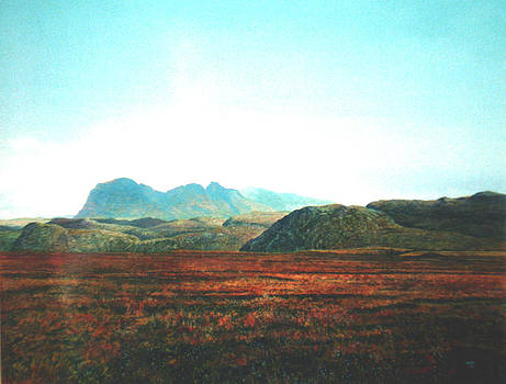 suilven and canisp beyond Scotland by Rodger Insh