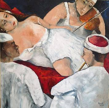Sold/Sultan's Daughter by Farid  Fakhriddin 100x100 cm