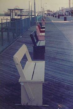 Summer Benches Seaside Heights NJ by Joann Renner